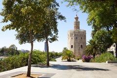 Ο χρυσός πύργος στη Σεβίλη Στοκ εικόνα με δικαίωμα ελεύθερης χρήσης