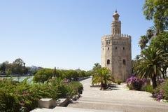 Ο χρυσός πύργος Στοκ εικόνες με δικαίωμα ελεύθερης χρήσης