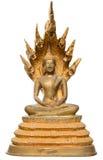 Ο χρυσός ταϊλανδικός Βούδας απομόνωσε στοκ εικόνα