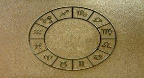ο χρυσός υπογράφει zodiacal Στοκ φωτογραφίες με δικαίωμα ελεύθερης χρήσης