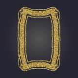 Ο χρυσός Nouveau τέχνης ακτινοβολεί διακοσμητικό διανυσματικό πλαίσιο ορθογωνίων για το σχέδιο Σύνορα ύφους του Art Deco διανυσματική απεικόνιση