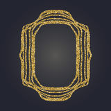 Ο χρυσός Nouveau τέχνης ακτινοβολεί διακοσμητικό διανυσματικό πλαίσιο ορθογωνίων για το σχέδιο Σύνορα ύφους του Art Deco Στοκ φωτογραφίες με δικαίωμα ελεύθερης χρήσης