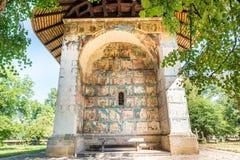 Ο χρωματισμένος μοναστήρι τοίχος Arbore Στοκ φωτογραφίες με δικαίωμα ελεύθερης χρήσης