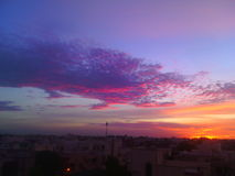 Ο χρωματισμένος ουρανός όπως τη ζωή μας Στοκ Φωτογραφίες