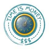 Ο χρόνος είναι έννοια χρημάτων με ένα χρυσό ρολόι σε ένα άσπρο υπόβαθρο Β Στοκ φωτογραφίες με δικαίωμα ελεύθερης χρήσης