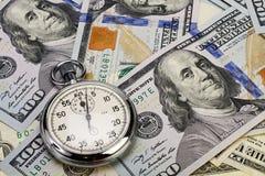 Ο χρόνος είναι έννοια χρημάτων Στοκ φωτογραφία με δικαίωμα ελεύθερης χρήσης