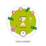 Ο χρόνος είναι επιχειρησιακή έννοια χρημάτων στο σύγχρονο επίπεδο απεικόνιση αποθεμάτων