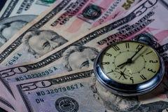 Ο χρόνος είναι χρήματα - εικόνα έννοιας Στοκ Εικόνα