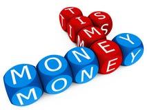 Ο χρόνος είναι χρήματα διανυσματική απεικόνιση