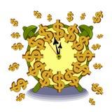 Ο χρόνος είναι χρήματα ελεύθερη απεικόνιση δικαιώματος