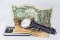Ο χρόνος είναι χρήματα Στοκ εικόνα με δικαίωμα ελεύθερης χρήσης