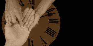 Ο χρόνος θα πει - έμβλημα ιστοχώρου χειρομαντίας Στοκ φωτογραφίες με δικαίωμα ελεύθερης χρήσης