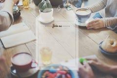 Ο χρόνος καφέ τσαγιού σπασιμάτων χαλαρώνει την έννοια Στοκ Φωτογραφίες