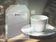 Ο χρόνος καφέ τσαγιού σπασιμάτων χαλαρώνει την έννοια Στοκ Εικόνα