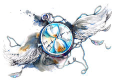 Ο χρόνος πετά διανυσματική απεικόνιση