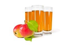 ο χυμός γυαλιού ανασκόπησης μήλων βλαστάησε το λευκό Στοκ εικόνα με δικαίωμα ελεύθερης χρήσης