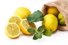 Ο χυμός πίνει τη λεμονάδα με τη μέντα Στοκ φωτογραφίες με δικαίωμα ελεύθερης χρήσης