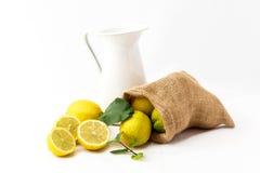 Ο χυμός πίνει τη λεμονάδα με τη μέντα Στοκ Εικόνα