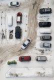 Ο χώρος στάθμευσης κοντά στο σπίτι Στοκ Φωτογραφίες