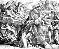 Ο ψαλμωδός Δαβίδ: Έπαινος Στοκ Εικόνες