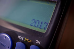 Ο ψηφιακός υπολογιστής γράφει το 2017 νέο έτος Στοκ φωτογραφία με δικαίωμα ελεύθερης χρήσης
