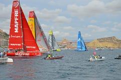 Ο ωκεάνιος στόλος αγώνα της VOLVO Στοκ εικόνα με δικαίωμα ελεύθερης χρήσης
