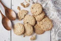 Ολόκληρα μπισκότα σίτου Στοκ Φωτογραφία