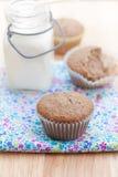 Ολόκληρα muffins σίτου Στοκ Εικόνες