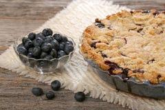 Ολόκληρη πίτα Blurberry Στοκ φωτογραφίες με δικαίωμα ελεύθερης χρήσης