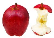 Ολόκληρο κόκκινο - εύγευστο μήλο και ο πυρήνας του Στοκ φωτογραφίες με δικαίωμα ελεύθερης χρήσης