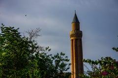Ο όμορφος μιναρές σε Antalya Στοκ Εικόνα