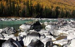 Ο όμορφος ποταμός kanas Στοκ φωτογραφία με δικαίωμα ελεύθερης χρήσης