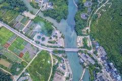 Ο όμορφος ποταμός Yulong Στοκ εικόνα με δικαίωμα ελεύθερης χρήσης
