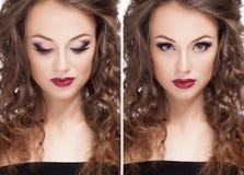 Ο όμορφος πρότυπος επαγγελματίας brunette αποτελεί στοκ φωτογραφία με δικαίωμα ελεύθερης χρήσης