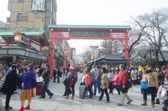 Οδός αγορών Nakamise Στοκ Εικόνα