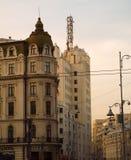 Οδός Βουκουρέστι Ρουμανία Victoriei Στοκ εικόνα με δικαίωμα ελεύθερης χρήσης