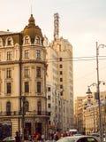 Οδός Βουκουρέστι Ρουμανία Victoriei Στοκ φωτογραφία με δικαίωμα ελεύθερης χρήσης