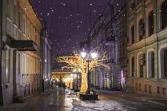 Οδός γεφυρών Kuznetskiy διακοσμήσεων Χριστουγέννων, Μόσχα Στοκ εικόνες με δικαίωμα ελεύθερης χρήσης