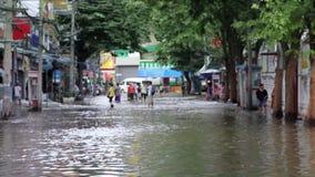 Οδός κάτω από την πλημμύρα φιλμ μικρού μήκους