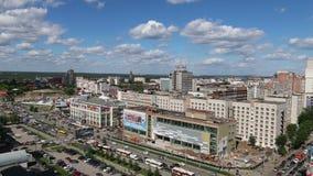 Οδός και εμπορικό κέντρο Popova κάτω από την κατασκευή απόθεμα βίντεο