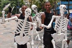Οδός καρναβάλι Ρίο ντε Τζανέιρο Στοκ Εικόνες