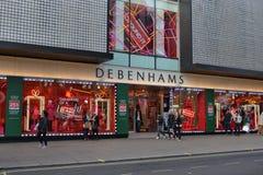 Οδός Λονδίνο της Οξφόρδης Debenhams Στοκ Εικόνα
