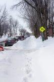 Οδός μετά από χιονοπτώσεις Στοκ φωτογραφίες με δικαίωμα ελεύθερης χρήσης