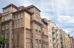 Οδός με τα κτήρια Nouveau τέχνης Στοκ φωτογραφία με δικαίωμα ελεύθερης χρήσης