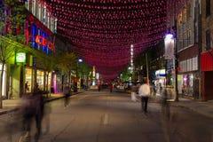 Οδός Μόντρεαλ Αγίου Catherine Στοκ εικόνα με δικαίωμα ελεύθερης χρήσης