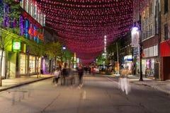 Οδός Μόντρεαλ Αγίου Catherine Στοκ φωτογραφίες με δικαίωμα ελεύθερης χρήσης