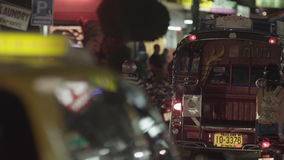 Οδός νύχτας πόλη αναμμένα τα νύχτα κινέζικα Maui, Ταϊλάνδη, Κίνα φιλμ μικρού μήκους