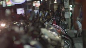 Οδός νύχτας πόλη αναμμένα τα νύχτα κινέζικα Maui, Ταϊλάνδη, Κίνα απόθεμα βίντεο