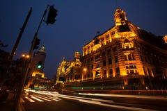 Οδός νύχτας στην Κίνα το φράγμα Στοκ φωτογραφία με δικαίωμα ελεύθερης χρήσης