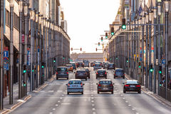 Οδός πόλεων στις Βρυξέλλες Στοκ Εικόνες